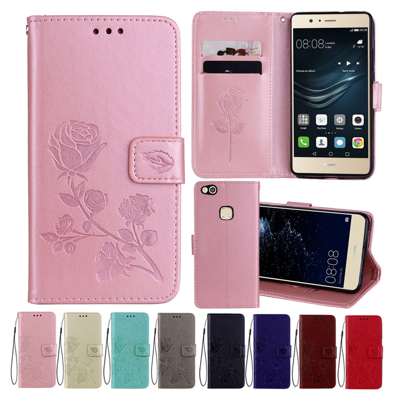 Aliexpress.com : Buy Leather Case For Huawei P10 Lite Cases Wallet Cover Flower Design Phone