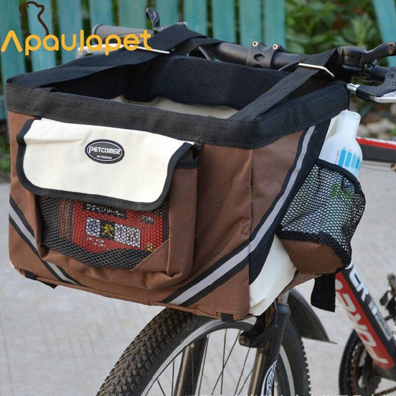 Aliexpress Com Buy Portable Dog Cat Pet Puppy Drinker: APAULAPET Portable Pet Dog Bicycle Carrier Bag Basket