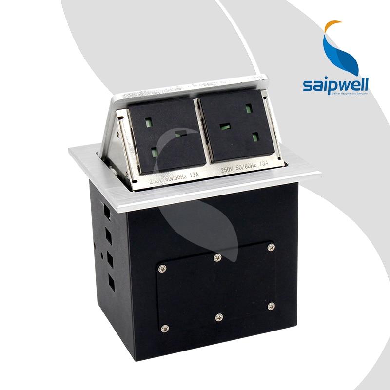 Prise de sol en alliage d'aluminium de Type anglais à deux positions/prise de courant Pop Up (230 V 13A) SPM-305UK