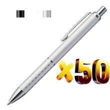 הרבה 50pcs זול מתכת כדור עט, אלומיניום נקודה לתפוס, משלוח לייזר חרוט לוגו החברה טקסט, מותאם אישית אירוע קידום מכירות מתנה