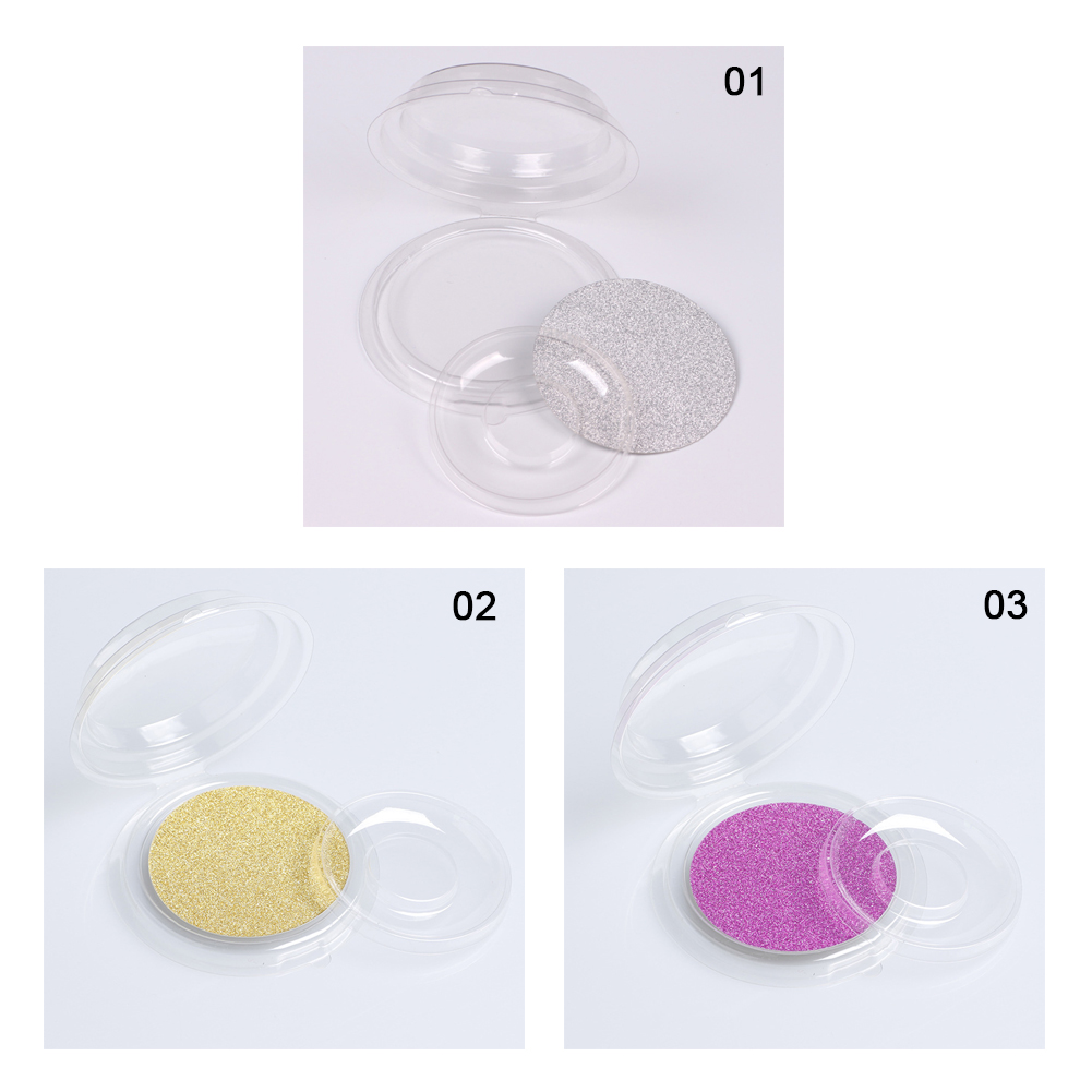 10pcs False Eyelash Packing Box Transparent Lid Tray Individual Magnet Eyelashes Stand Acrylic Pad Lash round Tool Eyelash Cases in Eye Shadow Applicator from Beauty Health