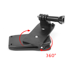 SHOOT 360 Degree Rotary Backpack Hat Clip Clamp Mount for Gopro Hero 5 3 4 Session SJCAM SJ4000 Xiaomi Yi 4K Go pro Accessory
