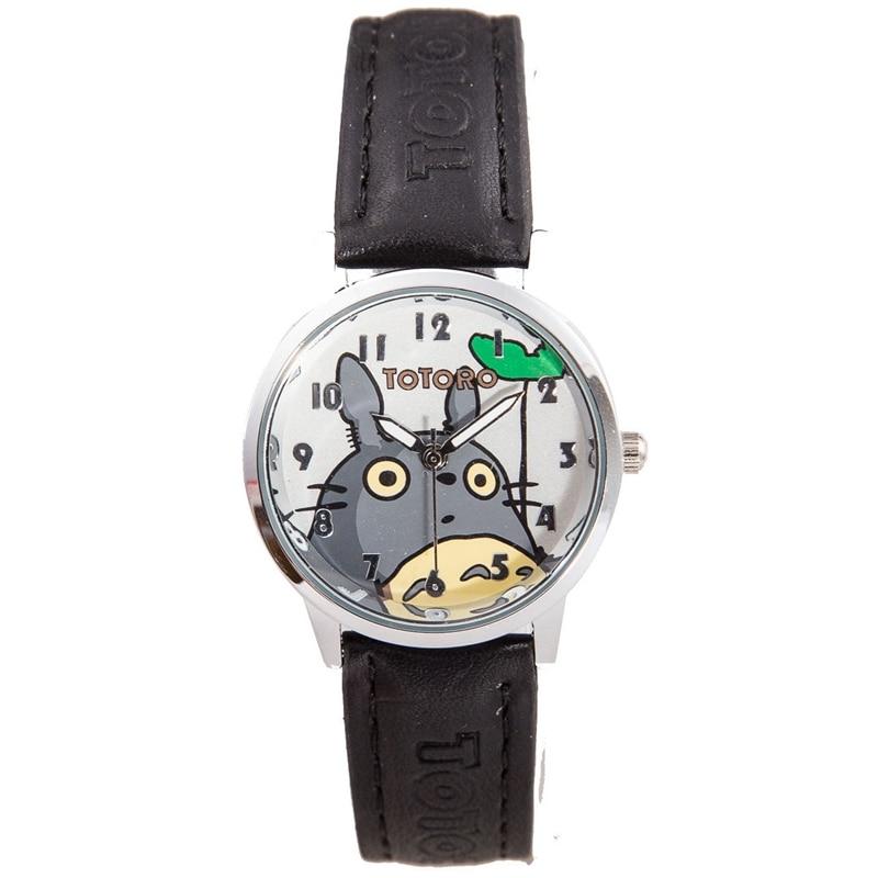 New Arrival Sponge Bob Totoro Design Kids Watch Fashion Cute Children Cartoon Watches Leather Quartz-watch Relojes Clock kids new arrival cartoon bee design hat