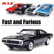 1:32 Scale Alloy Diecast Car Modell Kids Leker 1/32 Rask og Furious 7 Dodge Charger Trekk Tilbake Toy Cars Collection Gift