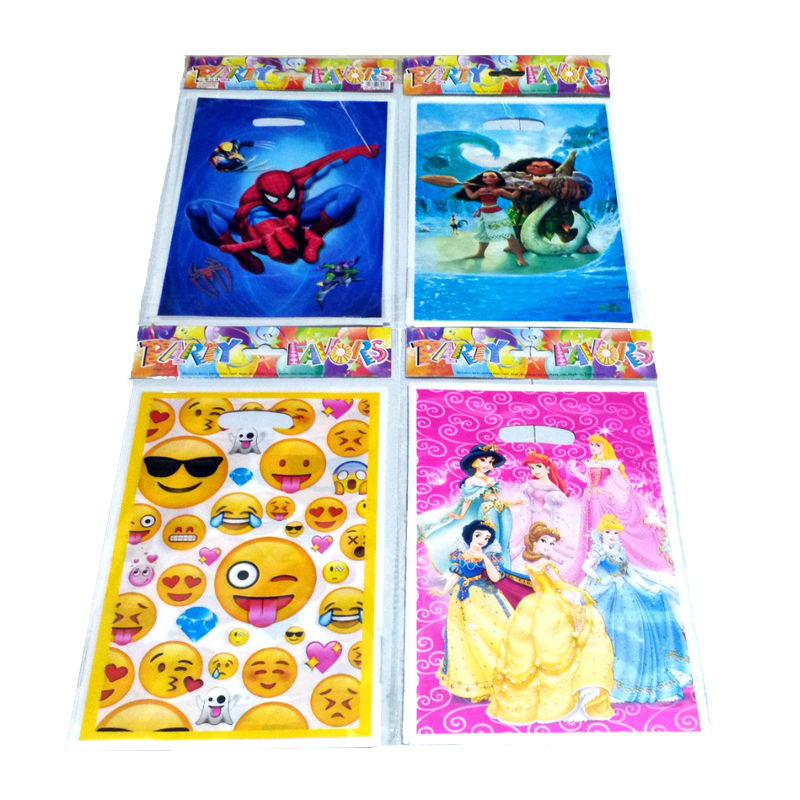 10pcs/lot children birthday party favors kids gifts bags plastic character party