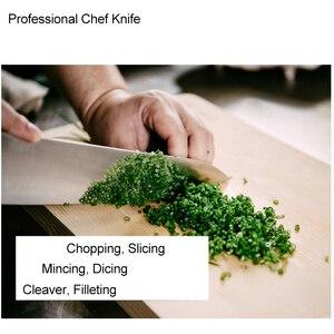 Image 5 - 24cm שף מטבח סכין יפני HAP40 פלדה גבוהה פחמן סופר חד בשר פילה דג חיתוך בישול המטבח סכיני 28