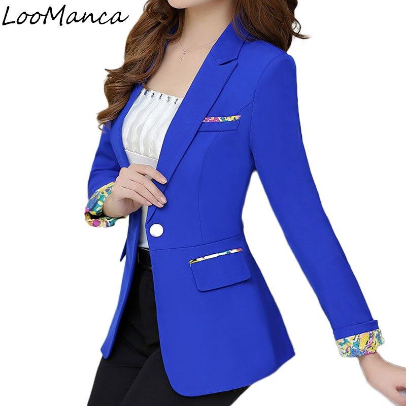 869600cd9e6 Detail Feedback Questions about 2018 New Fashion Women Blazers and Jackets  Korean Style Female Long Blaser Coat Work Wear Blazer Femme Plus Size S 3XL  on ...
