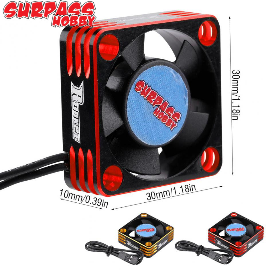 SURPASS high speed 28000RPM 30*30mm CNC Metal <font><b>Motor</b></font> Cooling <font><b>Fan</b></font> RC Heat Dissipation Cooling <font><b>Fan</b></font> for <font><b>540</b></font> 3660 3665 <font><b>Motor</b></font> image
