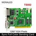 Linsn TS802 Synchron Volle Farbe Senden Karte  LED Video Controller 1280*1024 pixel unterstützung P2.5 P3 P4 P5 P6 P7.62 P8 P10 LED-in LED-Module aus Licht & Beleuchtung bei