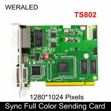Linsn TS802 senkron tam renkli gönderme kartı, LED Video denetleyici 1280*1024 piksel desteği P2.5 P3 P4 P5 P6 P7.62 P8 P10 LED