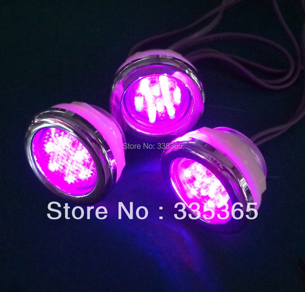 4pcs waterproof RGB underwater led spa light / jacuzzi bathtubs ...