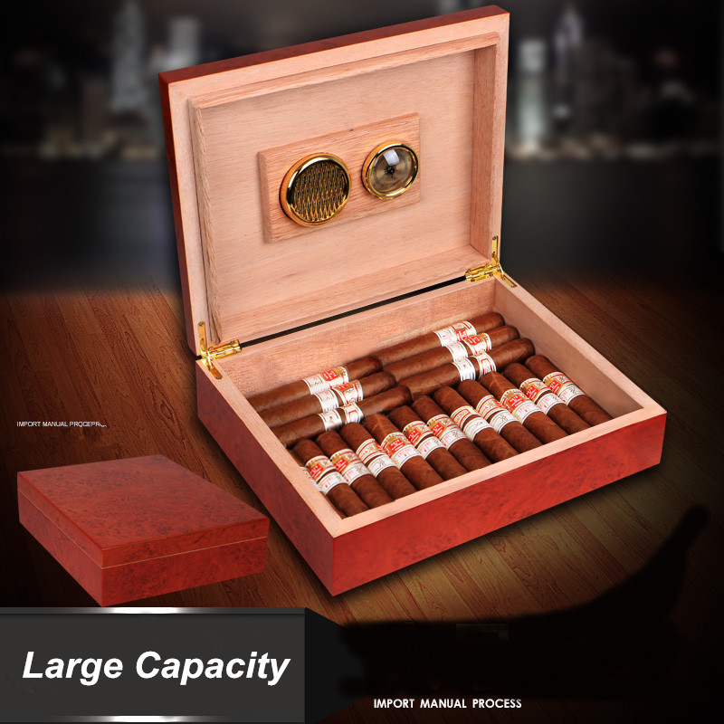Factory price High quality Wooden Cigar Humidor with Hygrometer and HumidifierFactory price High quality Wooden Cigar Humidor with Hygrometer and Humidifier