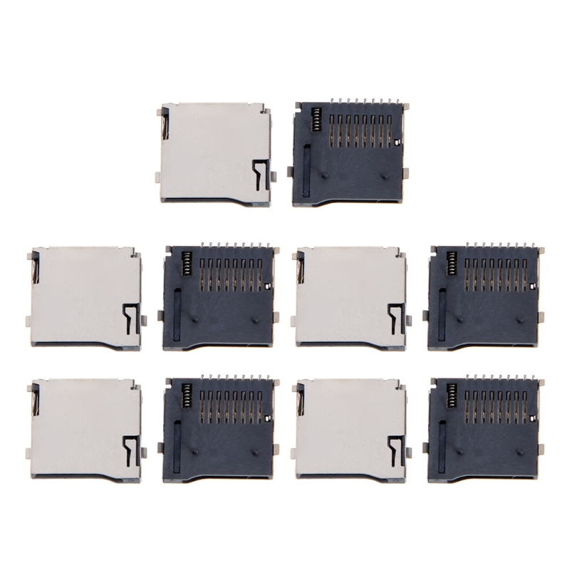 10PCS Push-Push Type TF Micro SD Card Socket Adapter Automatic PCB Connector  100% brand new and high quality10PCS Push-Push Type TF Micro SD Card Socket Adapter Automatic PCB Connector  100% brand new and high quality