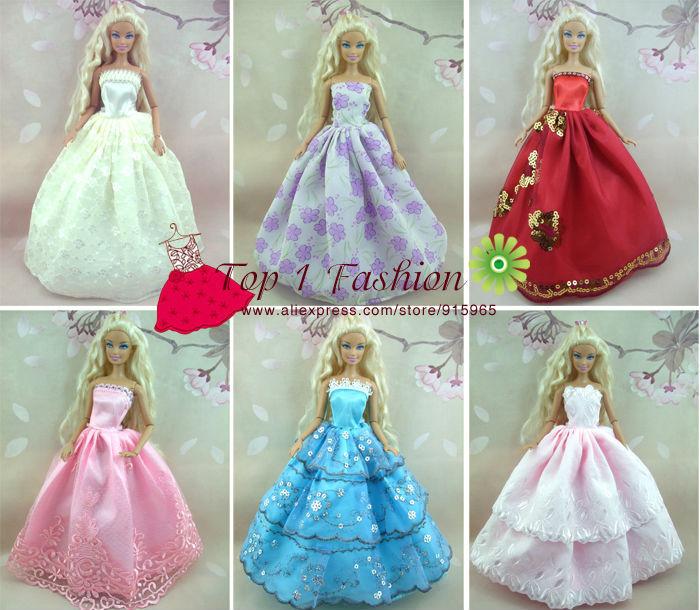 Baby flicka barn födelsedagspresent 5st klänning Dolls bröllop - Dockor och tillbehör - Foto 2