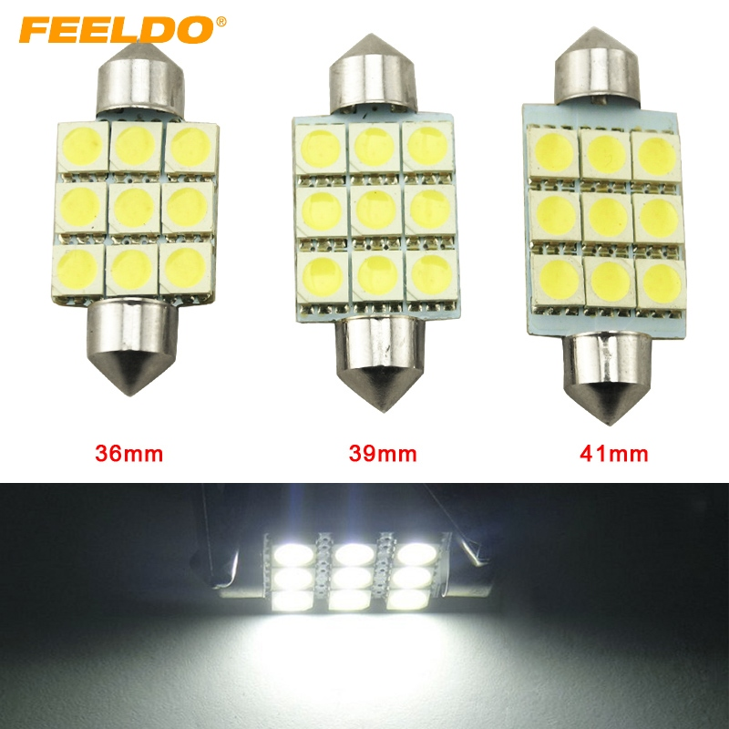 2x 42mm C10W 264 SV8,5 12-SMD 5050 360° Car LED Interior bulbs Xenon WHITE