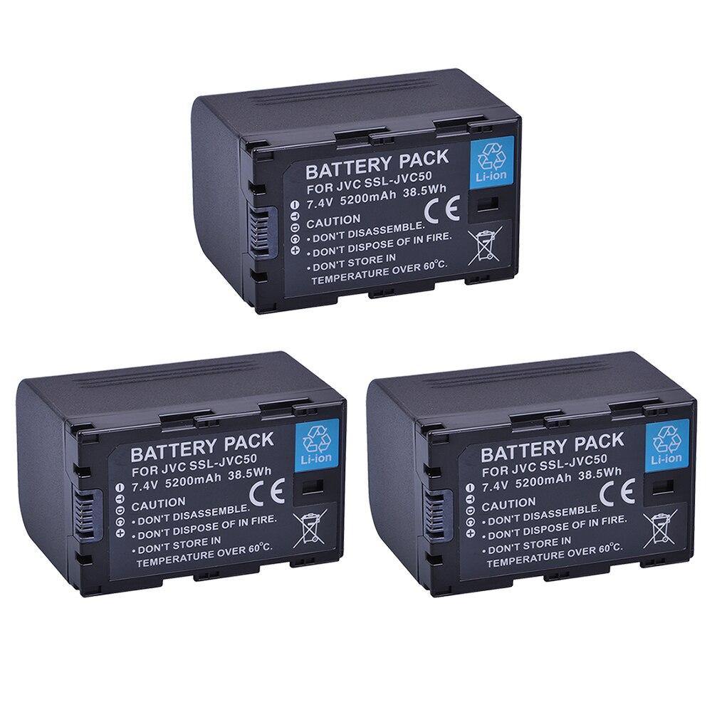 3Pcs SSL-JVC50 JVC50 SSLJVC50 Battery for JVC GY-HM600 GY-HM650 GY-HMQ10 GY-LS300 Camcorders мечи gu yuan gy 0049