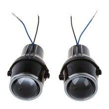 TOYL 2Pcs 55W H3 Universal HID Xenon Halogen Fog Light Bulb Lamp Car Auto Lens