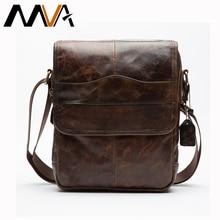 MVA Genuine Leather Bag font b Men b font Bags Small Casual Flap Shoulder Crossbody Bags