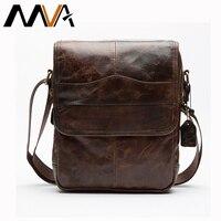 Men Small Flap Bags Men Vintage Leather Messenger Bag Genuine Leather Shoulder Crossbody Bags Fashion Zipper