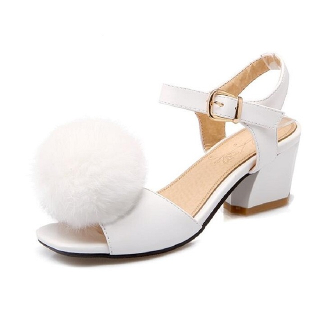 Rabbit Fur Women Sandals Nice Summer Shoes Sandals Size 11 12 Open ...