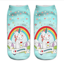 Girls' Unicorns and Rainbows Printed Socks