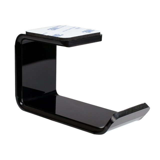 3m Sticker Acrylic Headphone Hanger Under Desk Wall Mounted Headset Holder Hook