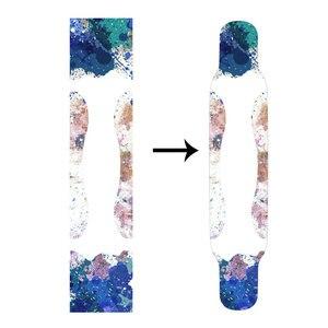 Image 2 - 122*24cm Longboard papier ścierny zagęścić ograniczona poślizgu deskorolka Grip taśmy płaski talerz Griptape naklejki na ryby deska długa deska
