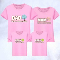 T shirt Clothes Mother Father Baby Short Sleeve T Shirt Summer Matching Family Clothes 1piece Fashion Family Matching Outfits
