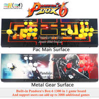 2019 Pandora Box 6 1300 in 1 arcade game console 2 players can add 3000 game support fba mame ps1 tekken 3d mortal kombat pacman