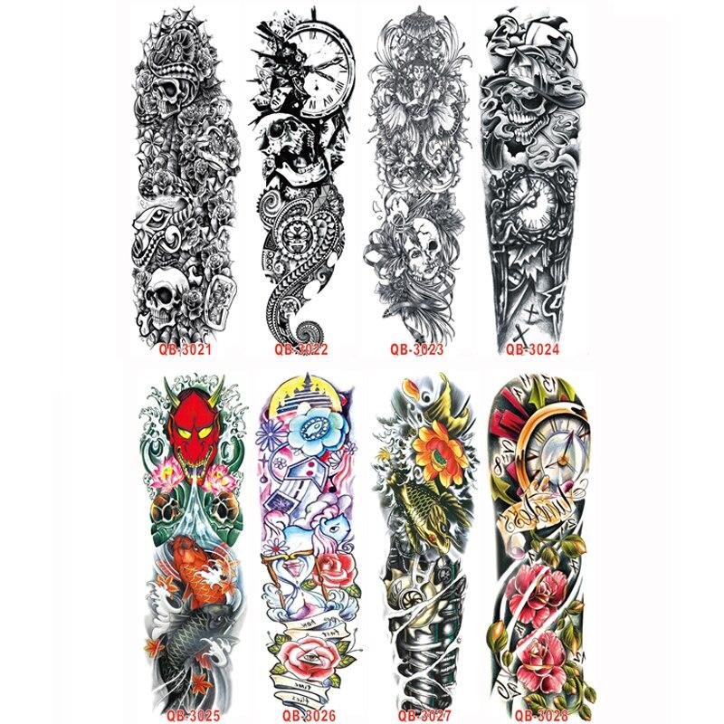 Pcs Waterproof Large Temporary Tattoos Stickers Fake Paste Leg Full Arm Tattoo Sticker Sleeve On The Body Art For Men Women 10