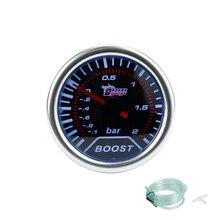 """Freies verschiffen!! ladedruckanzeige 2 """"(52mm) Rauch objektiv turbo-lehre Boost gauge (-1 ~ 2 Bar)/auto gauge/drehzahlmesser/auto meter"""