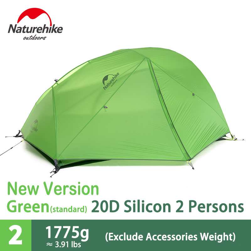 Naturehike 2 Person Double Layers Camping Tent Ultralight Waterproof Windproof 4 Season Tent New Version Dome Tent NH17T012-T large double layers folding umbrella windproof rain gear