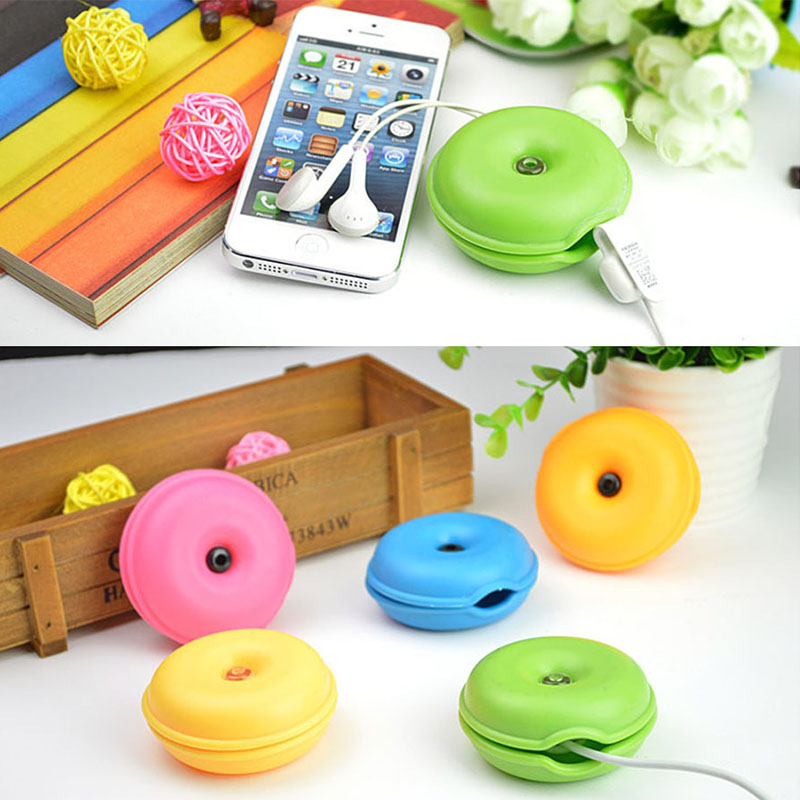 Earphone Cable Organizer Case Turtle Shape Wrap Wire Headphone Cord Holder