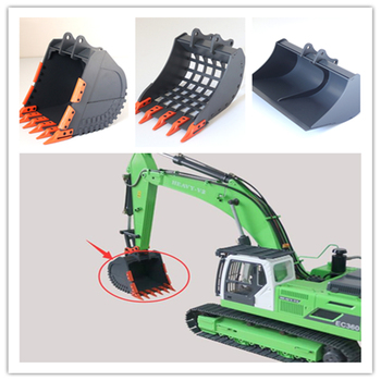 1/12 rc excavator model upgrade accessories metal bucket assembly for 1:12 scale remote control toys hydraulic excavator wooden hydraulic excavator model handmade scientific experiments steam