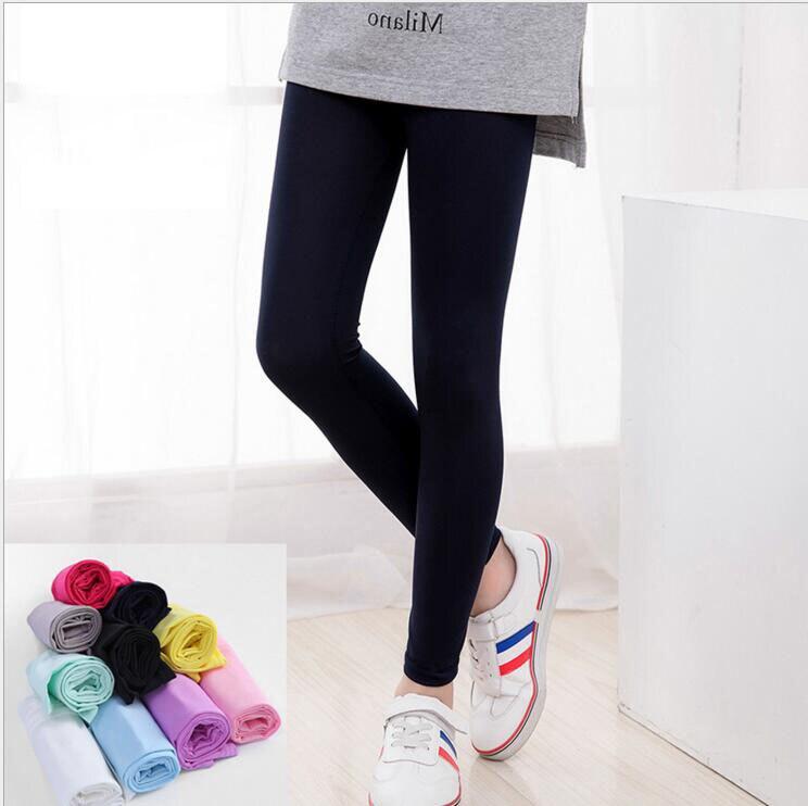 VEENIBEAR 2021 New Spring Summer Girl Leggings Pure Color Elastic Girl Pants Children Kids Pants Girl Clothes 3-11 Years 1