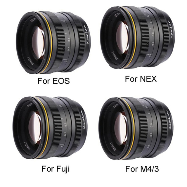 Kamlan 50mm f1.1 APS-C Large Aperture Manual Focus Lens for Mirrorless Cameras for Canon EOS-M / Sony E-mount / Fuji X for M4/3
