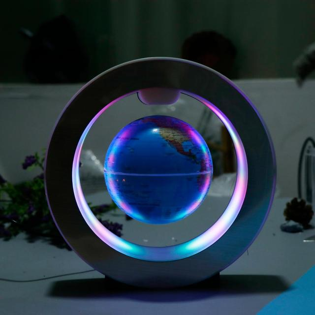 Decorative LED Light Levitation Floating World Map