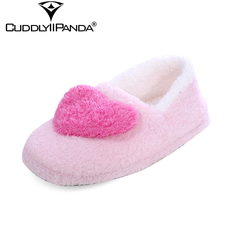 CuddlyIIPanda 2019 New Coral Velvet Women Home Slippers Heart-Shaped Print Indoor Slippers Leisure Casual Winter SlippersCuddlyIIPanda 2019 New Coral Velvet Women Home Slippers Heart-Shaped Print Indoor Slippers Leisure Casual Winter Slippers