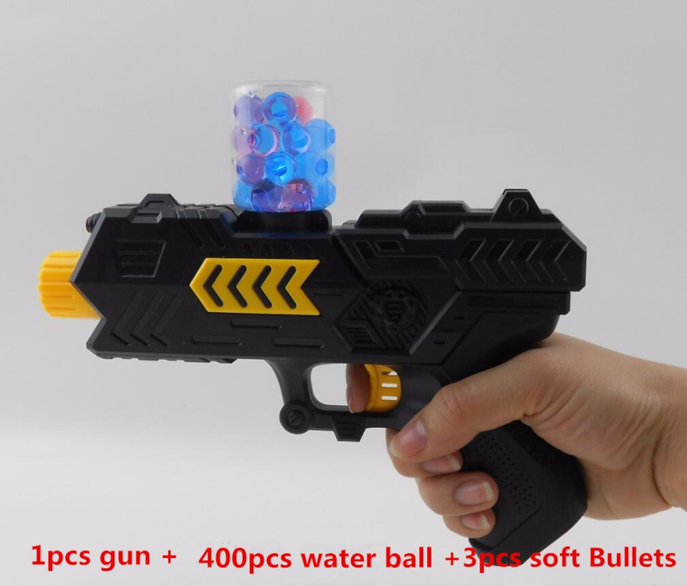цены  400pcs+gun water ball Orbeez balls Soft Paintball Gun Pistol Soft Bullet CS Water Crystal Gun  Air Airgun gel balls beads