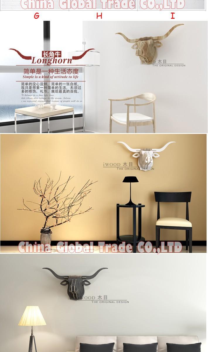 Fashion Modern Home Decoration Creative Wood Animal Head Furniture ...