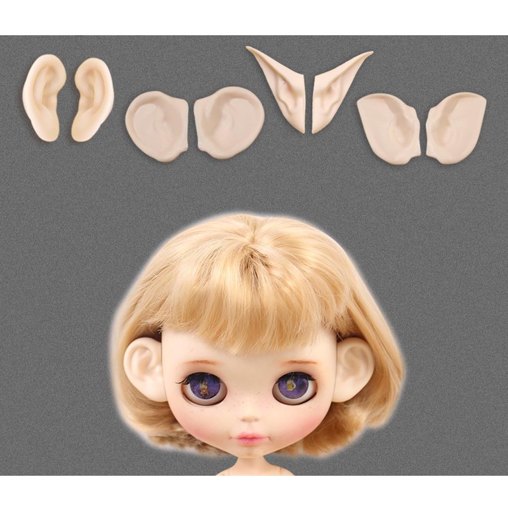Doll Faceplate Head Screws Set for Blythe DIY Custom Accessory White Skin