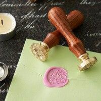 DIY Wood Metal Sealing Wax Stamps Vintage Retro Romantic Love Greeting Seal Stamp Free Shipping