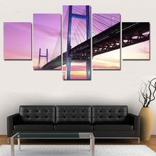 Hot Sell Cross The Sea Bridges Poster Landscape Wall Decor Print Large Canvas Art Painting for Living Room Unframed