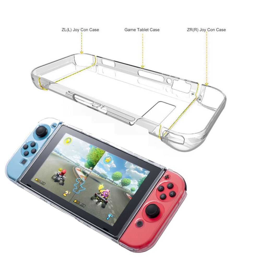 For Nintend Switch Transparent Plastic Clear Crystal Protective Case Cover For Nintend Switch NS NX Console Crystal Shell