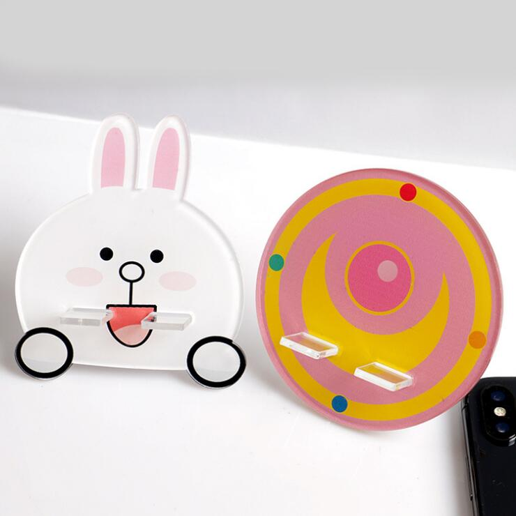 Cellphones & Telecommunications Car Phone Holder New Arrival 1 Piece Abs Cartoon Cute Desk Phone Holder Stand Rings Chicken Bunny Candy Pattern Support Sockets