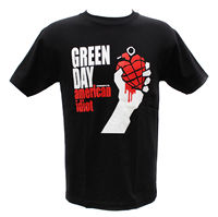 Short Sleeved Cotton Hip Hop Hip Hop T Shirt Gildan Green Day Punk Rock Band Graphic