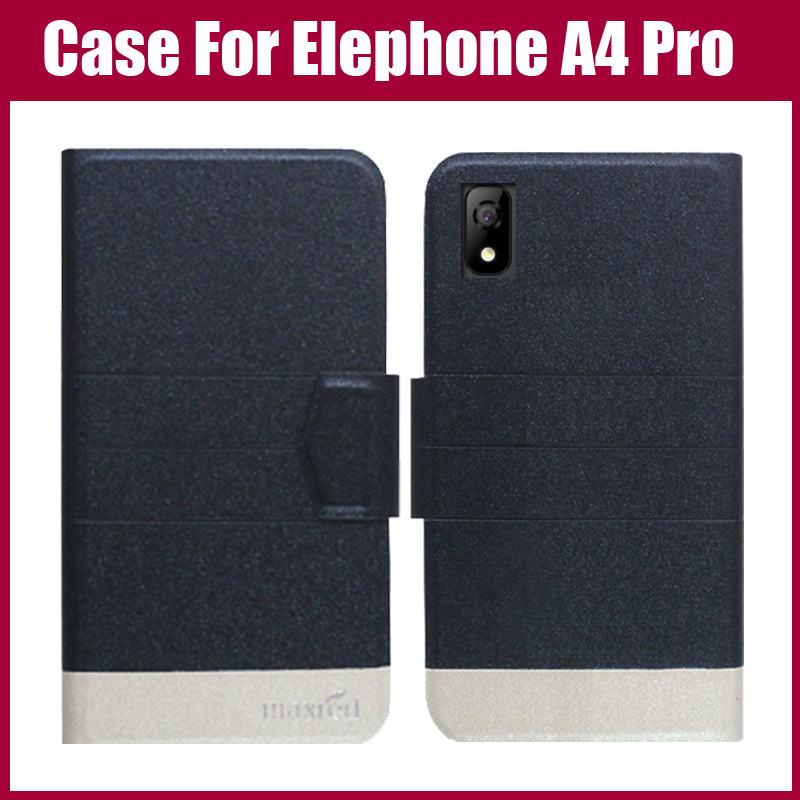 Hot Sale! Elephone A4 Pro Case New Arrival 5 Colors Fashion Flip Ultra-thin Leather Protective Cover For Elephone A4 Pro Case