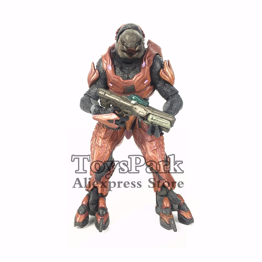 ToysPark Halo Elite Zealot 5 Action Figure Mcfarlane Halo 4 Series 1 Doll Model Collectible Loose No Retail Box