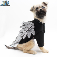 HELLOMOON Classic Embroidered Wings Pet Dog Coat Clothes For Small Dog Clothes Fashion Cotton Dogs Teddy