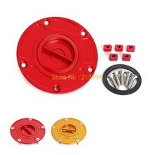 Aluminum Fuel Gas Cap Anodized Fit For DUCATI MONSTER 696 / 796 / 1100 / EVO - All Years